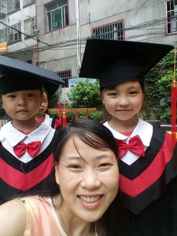 宝贝毕业照之十一,前米老师,左同学